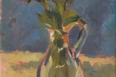 180925 China Aster Study 5 x 7 inches kevin mcsherry still life Morning and evening art classes in Dublin