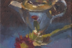 181001 Silver and Aster Study 5 x 7 inches kevin mcsherry still life