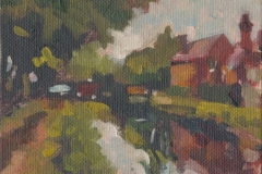 181019 Dublin Canal Looking East landscape oils kevin mcsherry  Morning and evening art classes in Dublin