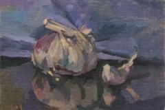 181105 Garlic Study 5 x 7 inches kevin mcsherry still life Morning and evening art classes in Dublin