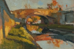 181109 Canal Bridge at Rathangan 5 x 7 inches kevin mcsherry landscape Morning and evening art classes in Dublin