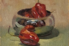 181121 Silver & Habanero Peppers II Study 5 x 7 inches kevin mcsherry Morning and evening art classes in Dublin
