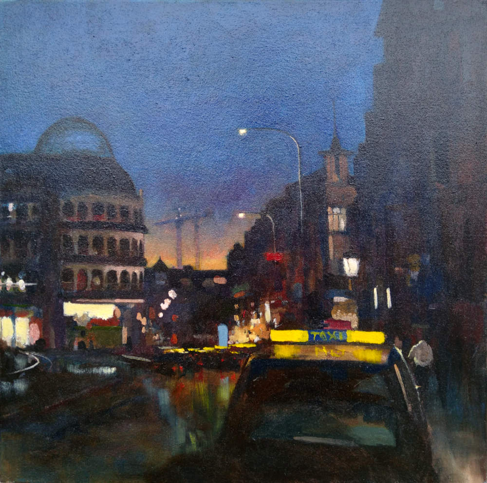 Culture night nocturne painting by kevin mcsherry 2019 dublin stephens green