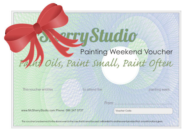 art workshop gift vouchers from Kevin McSherry of McSherryStudio.com painting classes