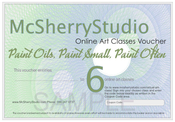 201125 voucher 6 McSherryStudio.com Zoom online art and painting classes with Kevin McSherry all over Ireland and the UK