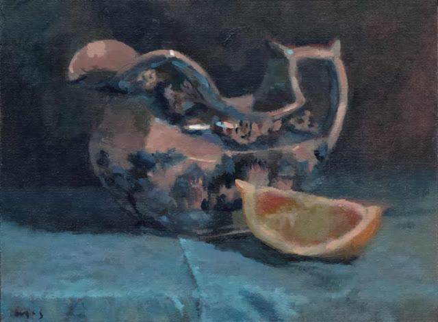 171114_36 English Jug Blue. Still Life daily painting. Kevin McSherry