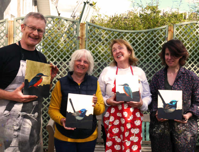 gold leaf nature icons art workshop with Kevin McSherry in Dublin