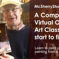Oils painting alla prima art classes by Irish artist and art teacher in Dublin Kevin McSherry at McSherryStudio.com