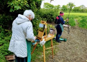 Painting en plein air at An Grianan, County Louth