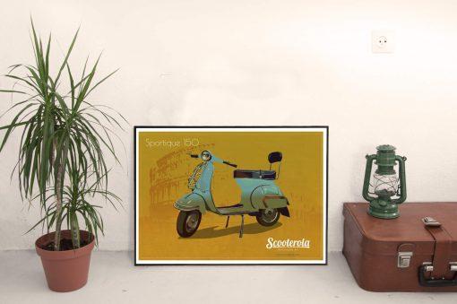 SC170120 Vespa GS A1 poster print