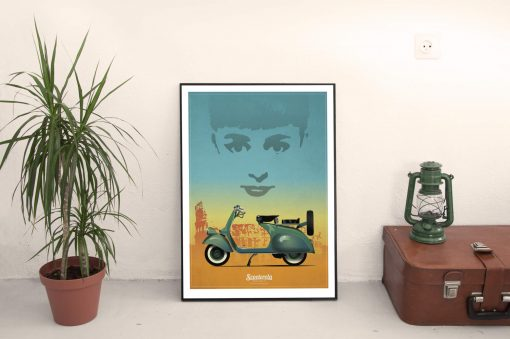 SC180101 Icons Cool Retro Poster Print by Scooterola and Kevin McSherry Irish artist