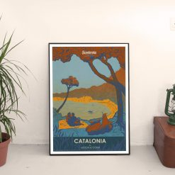 SC180216 Catalonia Cool Retro Poster Print by Scooterola and Kevin McSherry Irish artist