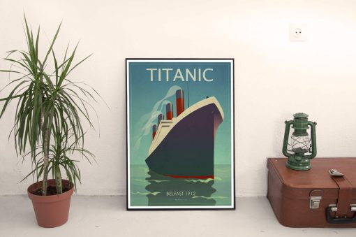SC180220 Titanic Artwork Poster Print Open Edition poster Prints. Printed to order on a heavy photographic archival stock. Available in four sizes