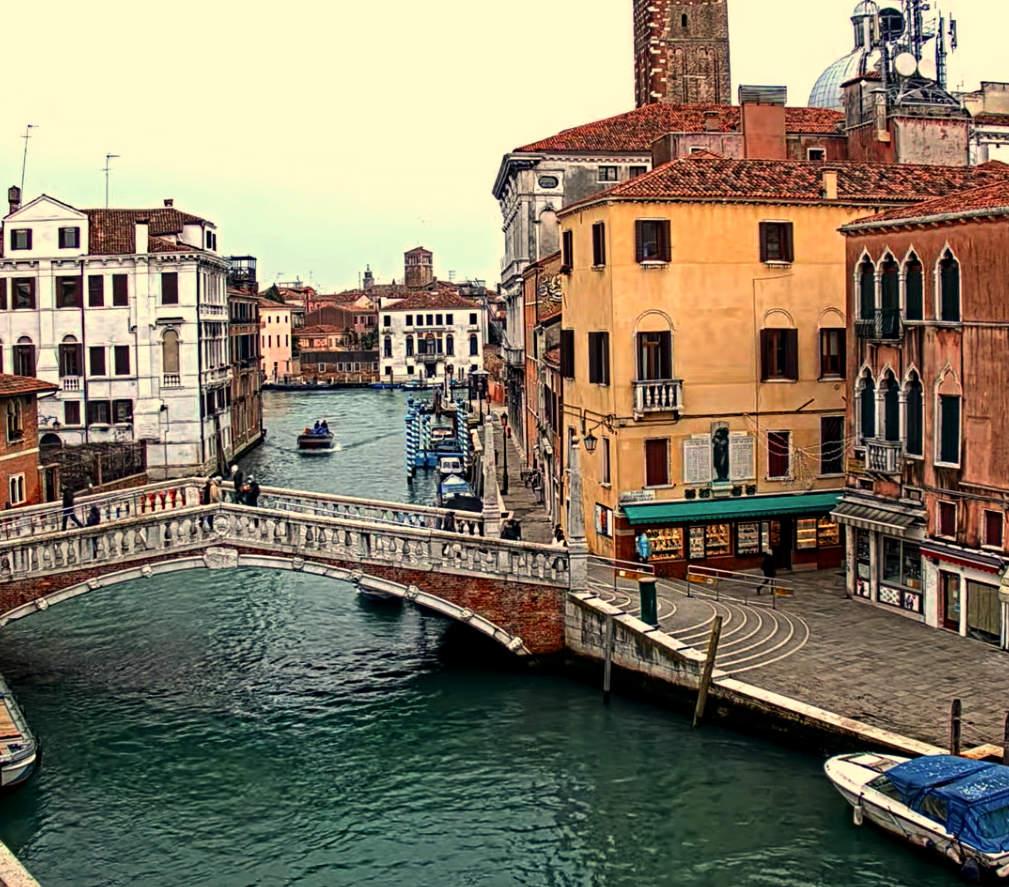 Venice canal Study oils paper kevin mcsherry landscape