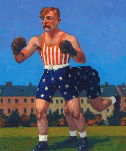 Yankee Dan Halligan-and-a-Half. Kevin McSherry Illustration affordable open edition print McSherryStudio.com