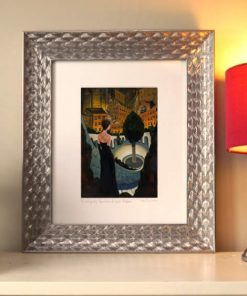 060905_22 Tryst in the City Garden. Kevin McSherry Illustration affordable open edition print McSherryStudio.com