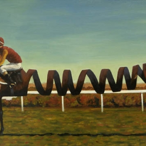 Slinky Lad. Kevin McSherry Oils on stretched canvas. 1m x 50cm