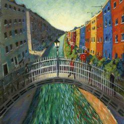 080204 Ha'penny Bridge Dublin Kevin McSherry Open Edition Print
