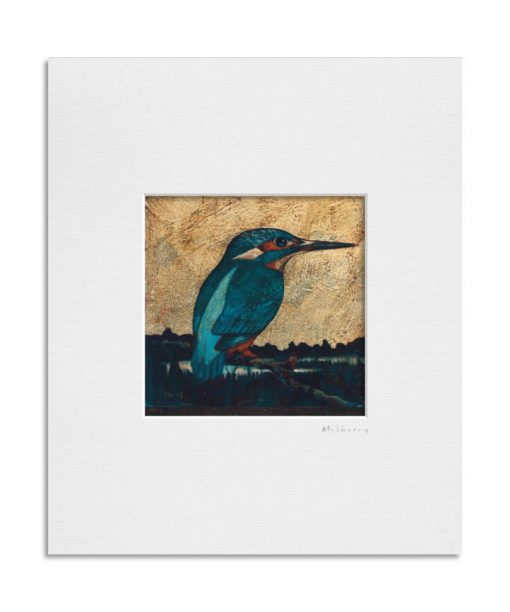 121127 Kingfisher II. Kevin McSherry Illustration affordable open edition print McSherryStudio.com