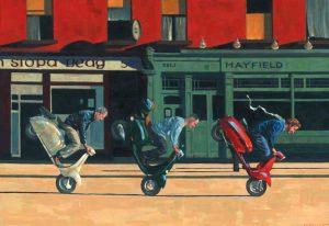 Early Sunday Morning. Kevin McSherry Illustration affordable open edition print McSherryStudio.com