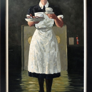 """When SIck is it Tea You Want? Oils on stretched canvas. 50"""" x 30"""" Kevin McSherry"""