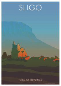 Sligo Cool Retro Poster Print by Scooterola and Kevin McSherry Irish artist