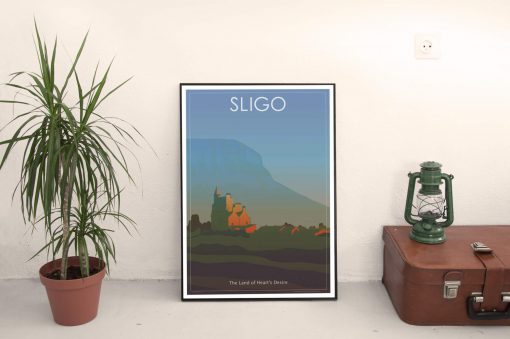 Sligo Cool Retro Poster Print by Scooterola and Kevin McSherry Irish artist