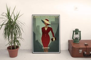 180921 New York Doll mantelpiece kevin mcsherry scooterola poster retro lo