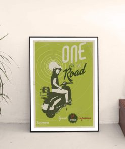 191029 Poster One for the Road retro scooter poster