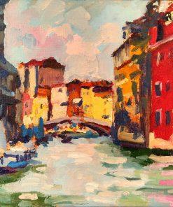 200526 Venice canal Study 7 x 10 oils paper kevin mcsherry landscape