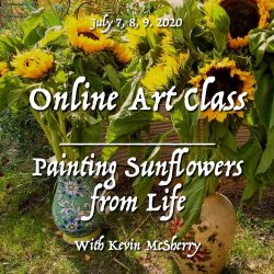 McSherryStudio.com Zoom online art and painting classes with Kevin McSherry all over Ireland and the UK painting materials free ebook