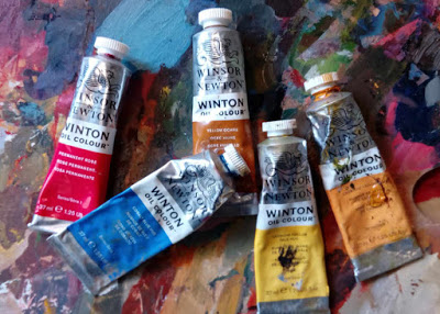 Tubes of Winsor & Newton Winton student quality oil paints