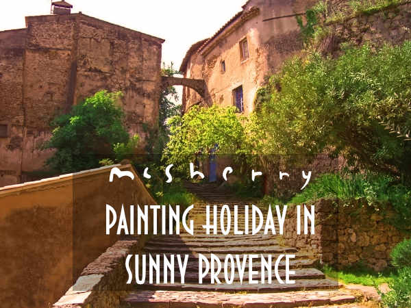 En plein air Painting holidays in sunny Cotignac, Provence with artist Kevin McSherry