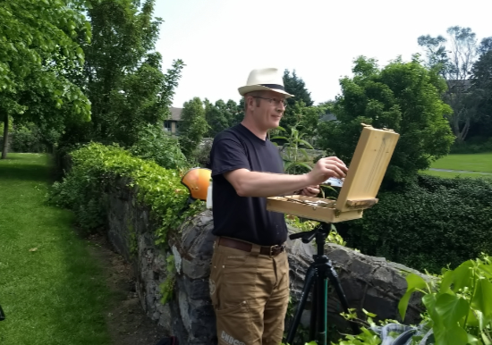 En plein air landscape painting workshop in Ireland with Kevin McSherry