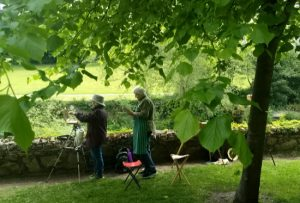 painting en plein air with kevin mcsherry in dublin. art classes for beginners