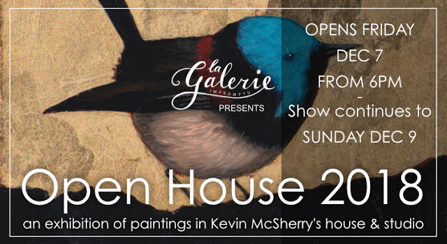 Open House exhibition of paintings at my house and studio. December 7, 2018