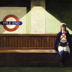 """Love at the Endings. Oils on stretched canvas. 40"""" x 20"""" Kevin McSherry"""