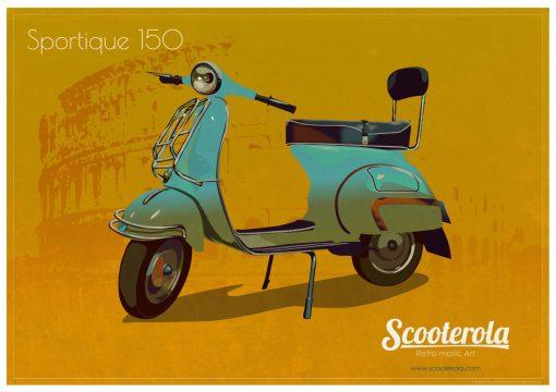 SC170120 Vespa GS poster print