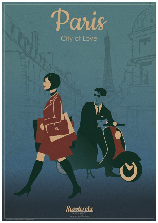SC170808 Paris City of Love retro poster print scooterola kevin mcsherry web lo RGB