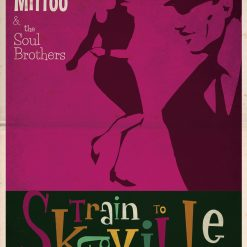SC171201 Train to Skaville Retro Poster Print