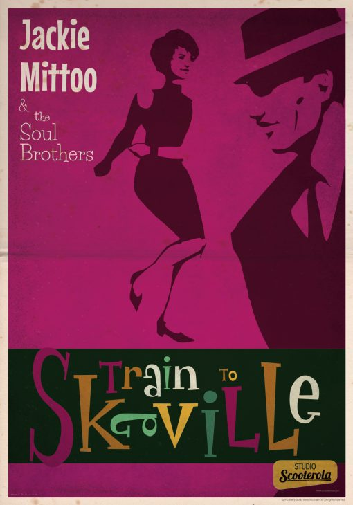 SC171201 Train to Skaville Cool Retro Poster Print by Scooterola and Kevin McSherry Irish artist