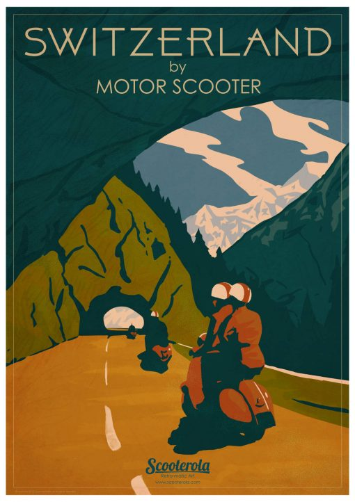 Switzerland by Scooter Retro Poster Print