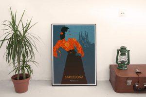 180214 Barcelona Poster Print