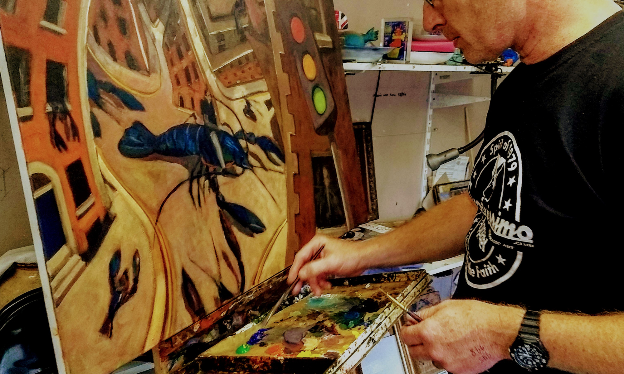 Kevin McSherry art classes in Dublin mindfulness wellness de-stress