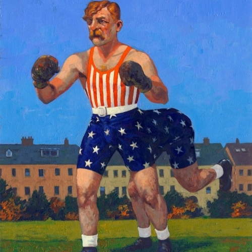 Yankee Dan Halligan-and-a-Half Acrylics on Arches watercolour paper. A3 Kevin McSherry The Fighting Irish